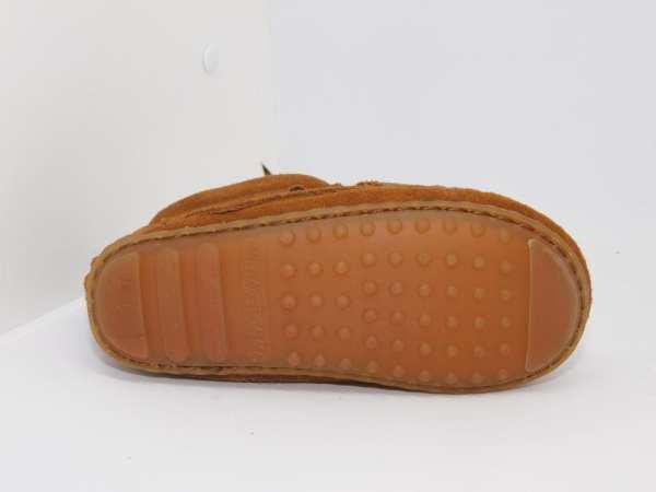 double fringe side zip boot brown