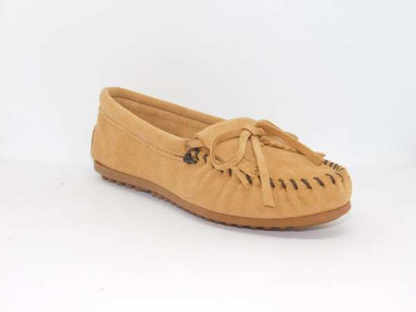 womens mocs kilty taupe 407t