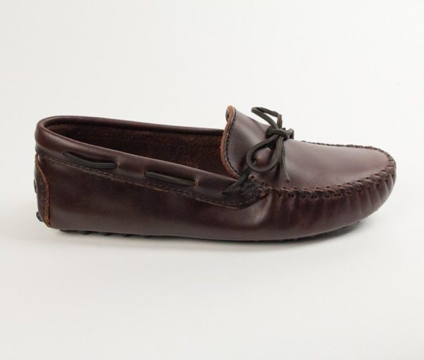mens mocs cowhide original driving lariat
