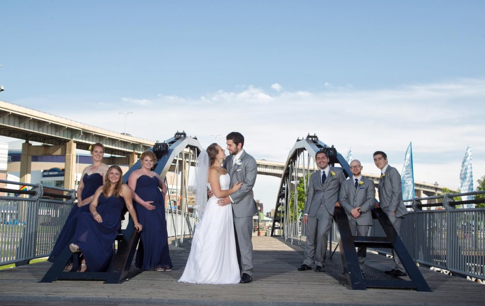 bride and groom fci photography canal side buffalo