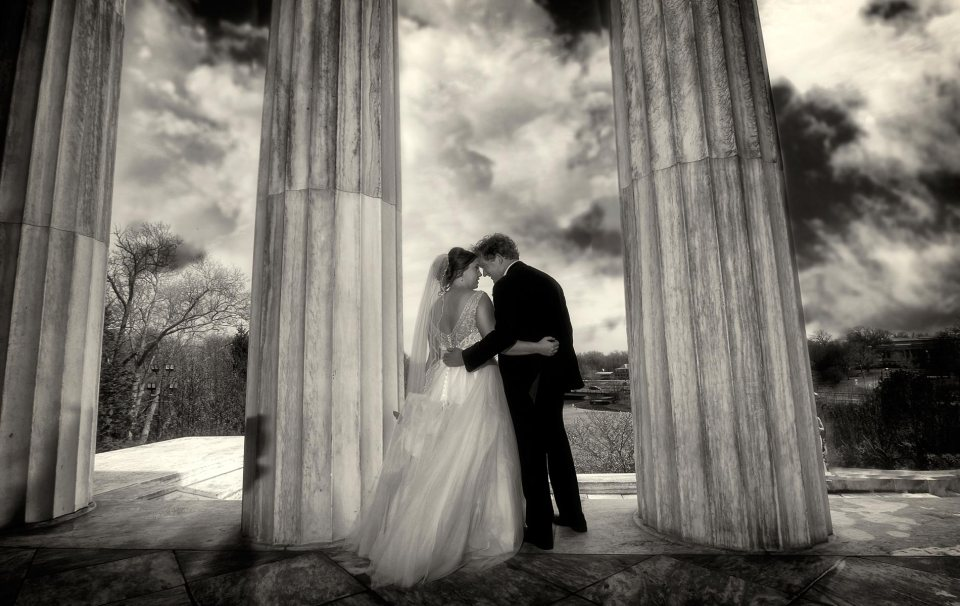 wedding and clouds
