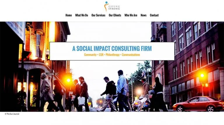 The Giving Strong Website