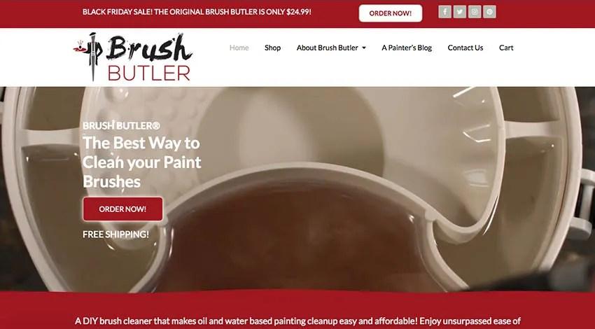 The Brush Butler Website