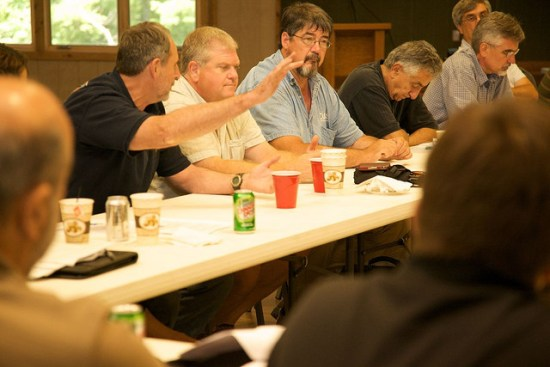 Photo of a meeting where members of the American Fisheries Society use Robert's Rules of Order