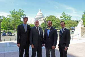 The AFS Policy Team on Capitol Hill: Policy Intern Zach Steffensmeier, Policy Director Tom Bigford, Policy Analyst Taylor Pool, and Policy Intern Marcos Holland.