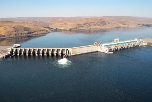 Wanapum Dam was one of the largest dams built with this type of design. Photo credit: Todd N. Pearsons.