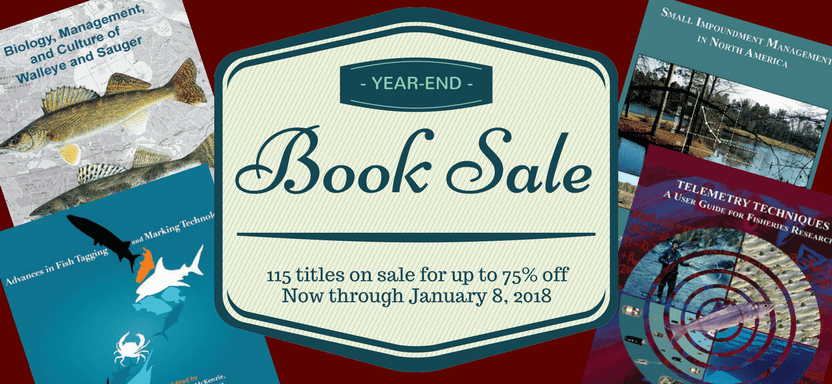 "<a href=""https://fisheries.org/bookstore/"">AFS End-of-Year Book Sale</a> slide"