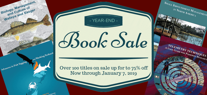 """<a href=""""https://fisheries.org/2018/12/afs-end-of-year-book-sale-online-bookstore-only/"""">Annual Book Sale</a> slide"""