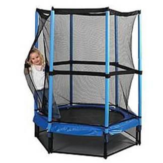 Батут детский с защитной сеткой диаметром 140 см напрокат