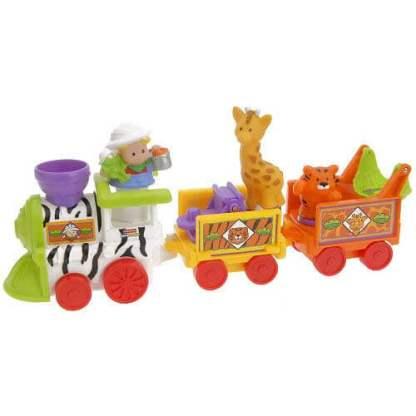 Музыкальный поезд Зоопарк из серии Маленькие человечки Fisher-Price на прокат