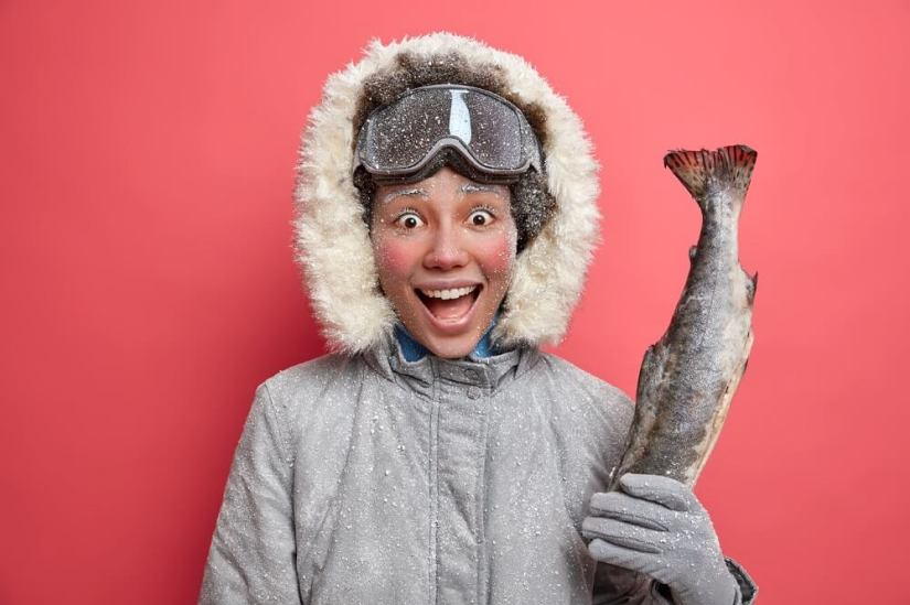 Positive-Woman-Ice-Fishing