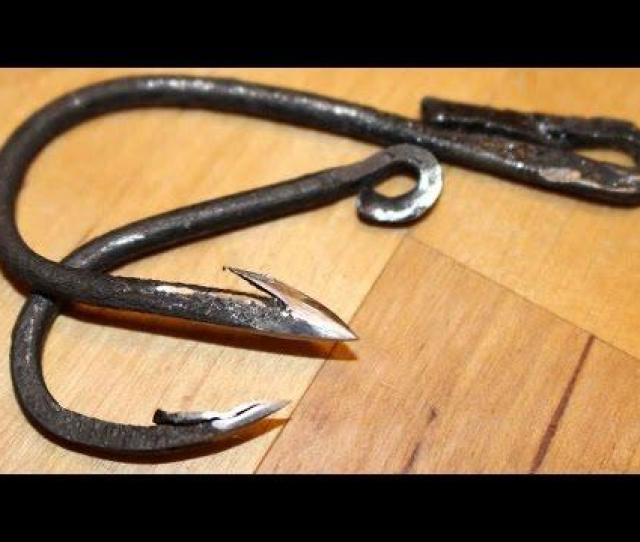 Forged Fishhook Fishing Challenge Can I Catch A Fish With A Hand Forged Fish Hook