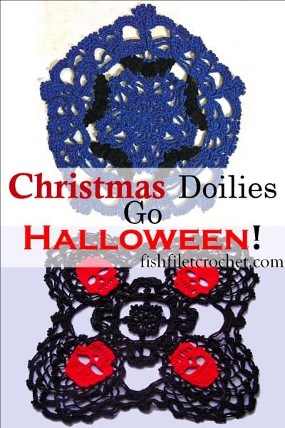 Christmas doilies previously Halloween