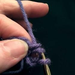 Draw yarn thru first 2 loops