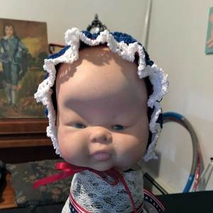 Baby Doll Head with bonnet