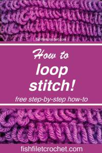 Loop Stitch Pinterest image