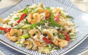 ORIENTAL PRAWN AND VEGETABLE FRIED RICE