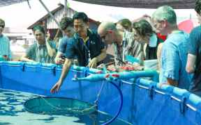 DELEGATES VISIT THAI AQUAFEED PLANT