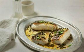 Cod With Lemon Butter and Capers