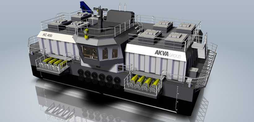 NEW FEED BARGE FOR LOVUNDLAKS