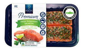 Huon RSPCA approved salmon available in Coles supermarkets
