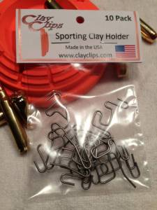 Clay Clips - I've looked for something like this for years - easily hang clay pigeons anywhere with this simple clips. Use this link for a discount: http://www.clayclips.com/