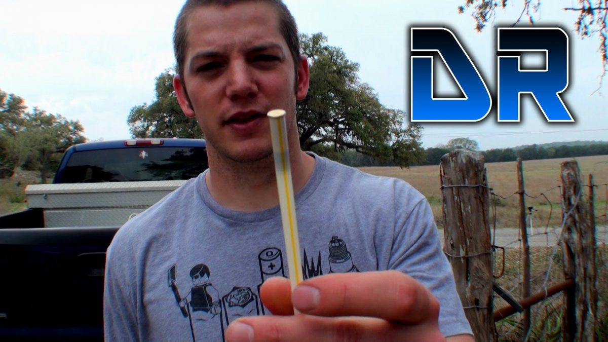 Video: Launching .22 LR in a Straw