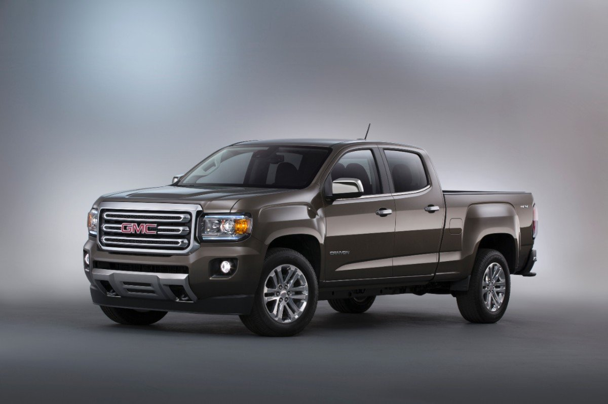 2015 GMC Canyon SLT crew cab with prices starting a $37,875 for a 4WD version.