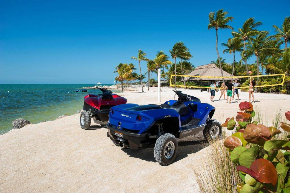 This vehicle operates on sand and on trails making it ideal for hunters and fishermen