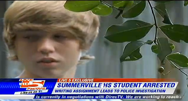 High school student says he was arrested for killing dinosaur in class assignment