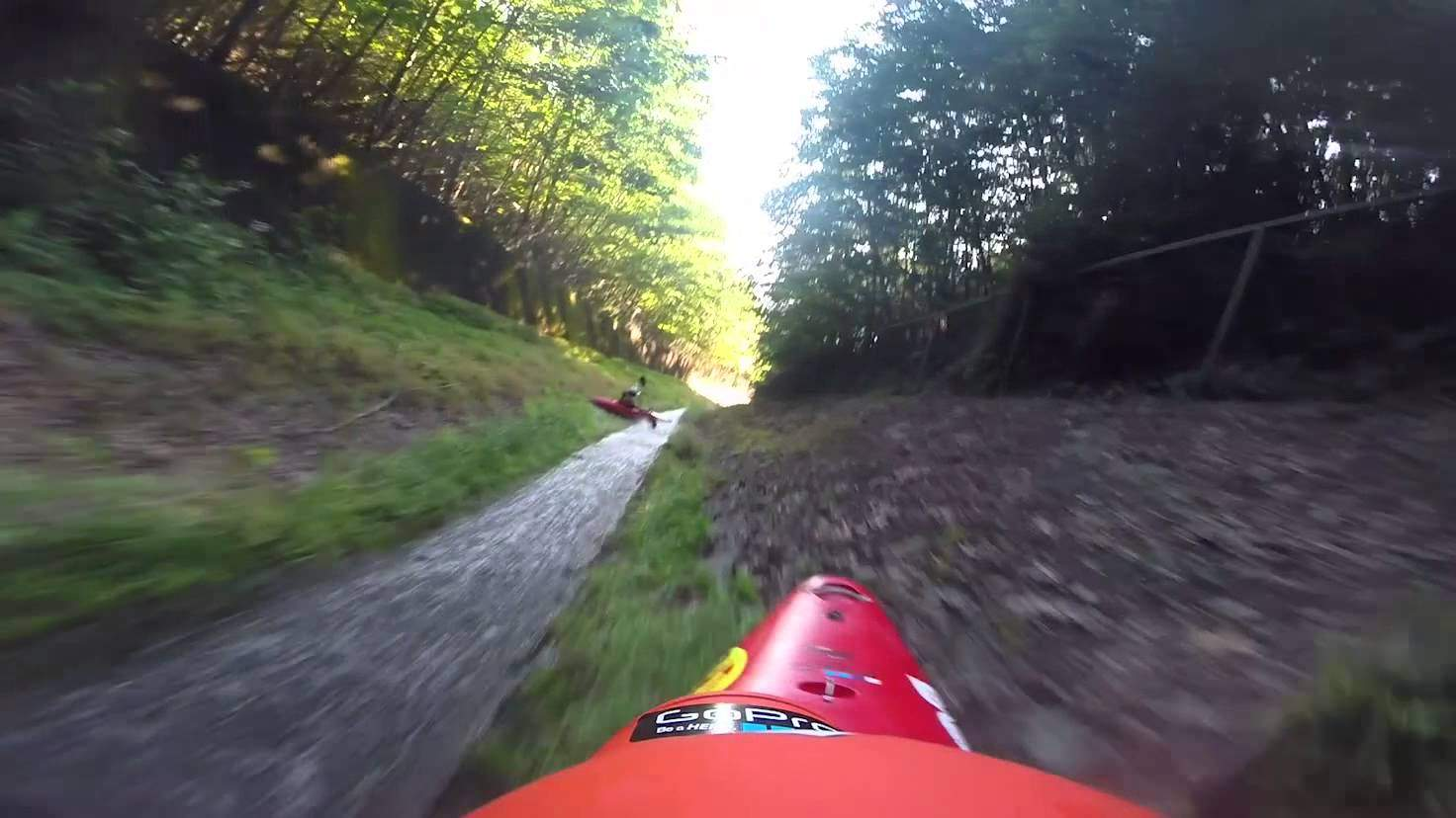 Watch Two Men Hit 45 MPH in Nothing but Kayaks and a Few Inches of Water