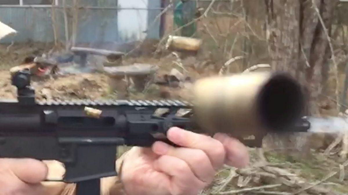 Full Auto 9mm M16 Brass Chunker! [VIDEO] - Texas Fish & Game