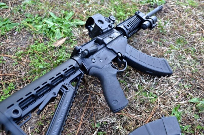 Can't decide between an AR or AK? the RRA LAR47 is a hybrid.