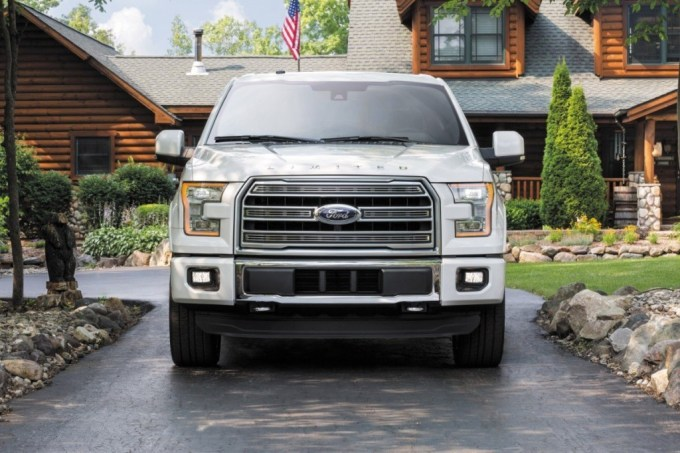 Front grille and quad beam headlamps