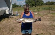 Glenda's first big trout