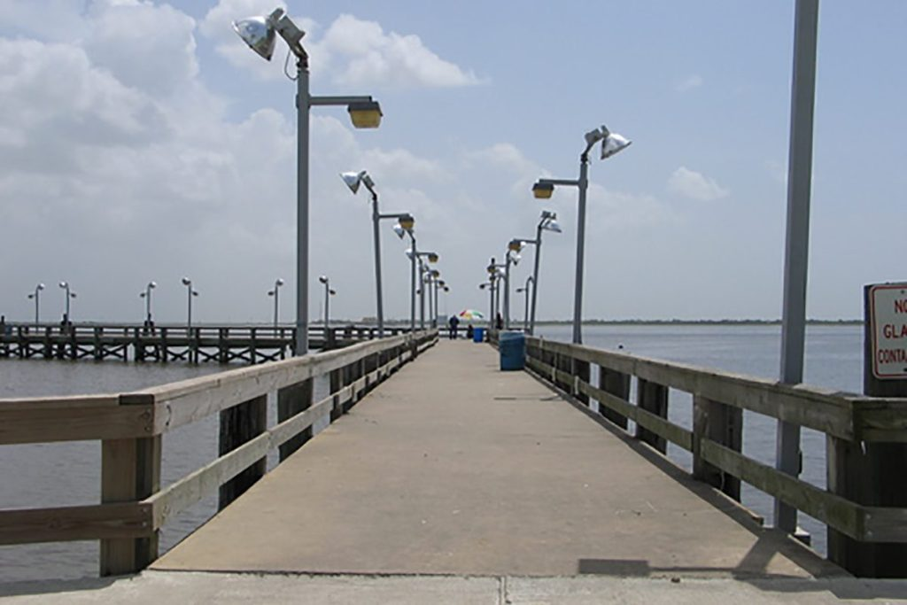 Fishing action is always good at the piers texas fish for Saltwater pier fishing