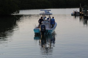 fishing in the mangroves with navionics