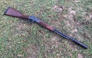 Suppressed Henry 357 Steel Carbine