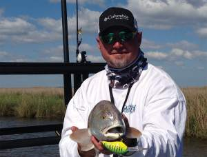 Shane Dubose says crank baits are really good for rocky jetties when reds school in deep, open water.