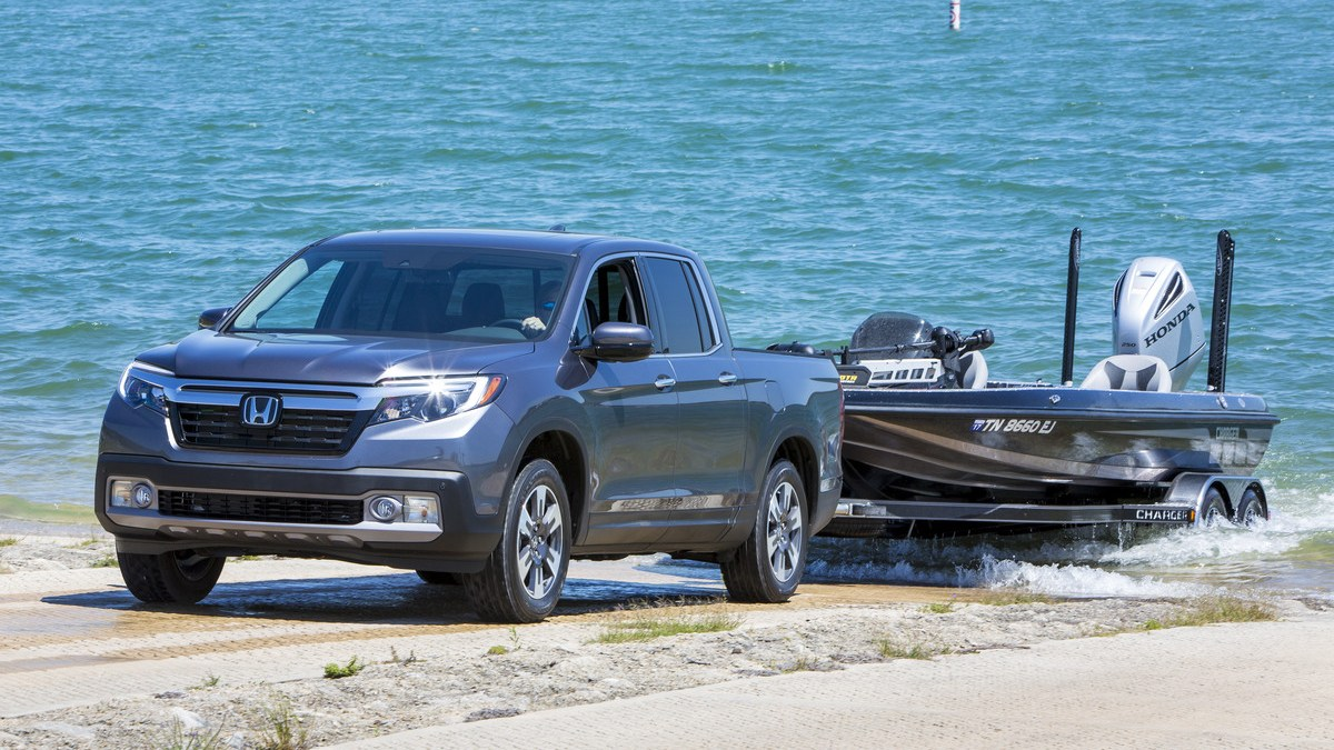 2017 Honda Ridgeline Is A Real Truck Texas Fish Game Magazine Modified The Easily Pulls 4800 Lb Bass Fishing Boat And Trailer From Lake