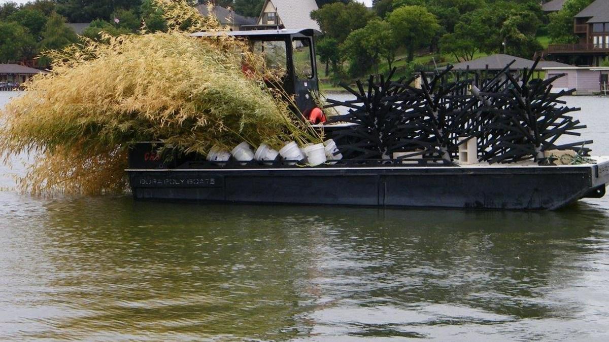 Habitat improvement projects building better fishing on for Lake granbury fishing