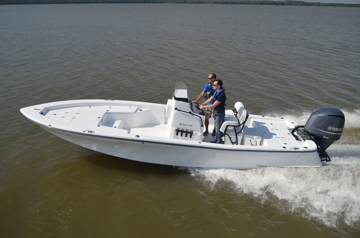 New Bay Boat: Blackjack 256 Hitting the Water