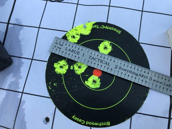 50 Yard accuracy test results with CCI Standard Ammo