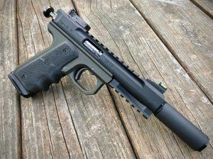 The Bowers Bitty on a Volquartsen Scorpion .22LR Pistol