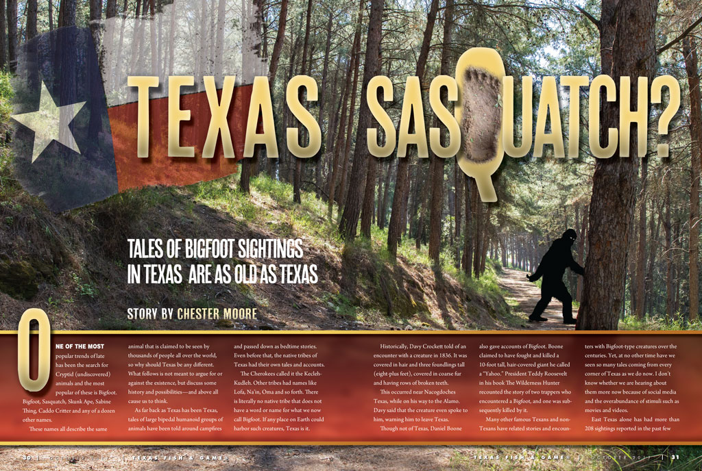 Texas Sasquatch by Chester Moore - Texas Fish & Game Magazine