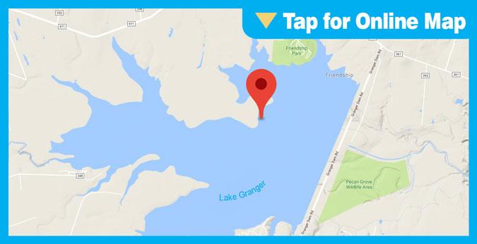 Granger Lake HOTSPOT: Main Lake Submerged Structure
