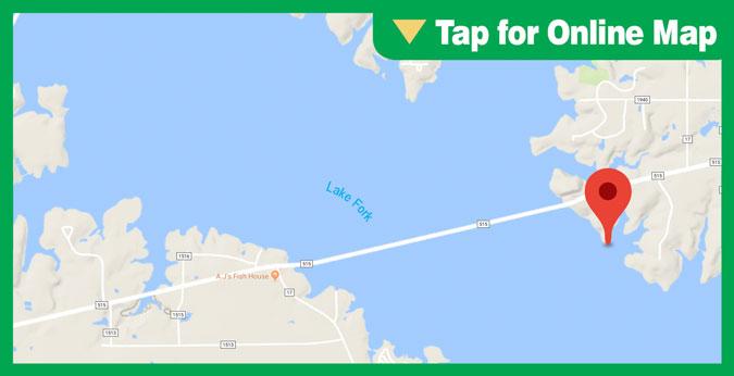 Lake Fork HOTSPOT: Main Lake Points and Humps