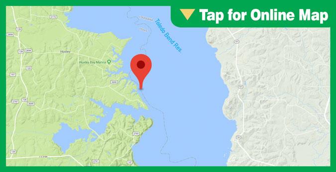 Lake Toledo Bend HOTSPOT: Still Water to Bayou Seipe