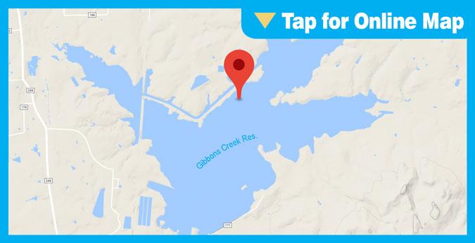 Gibbons Creek Reservoir HOTSPOT: Hog Island