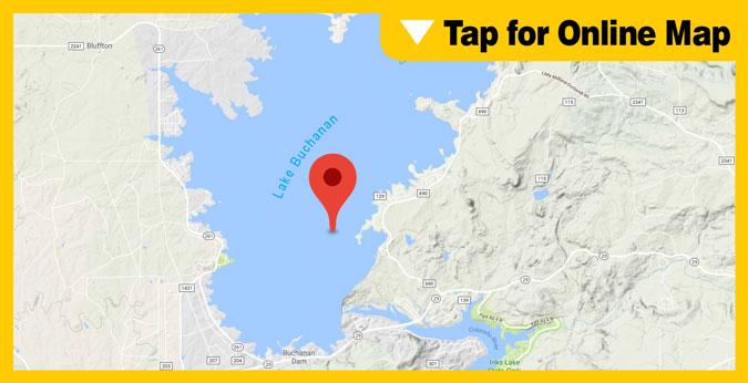 Lake Buchanan HOTSPOT: Mid-Lake to Dam Area